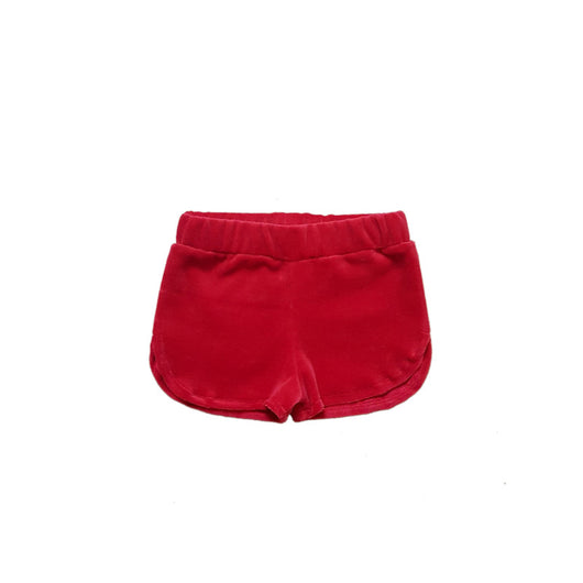 TOUGH COOKIE - VELVET SHORT - RED TOUGH COOKIE - VELVET SHORT - RED, apparel, tough cookie, littlebelleandbeau- littlebelleandbeau