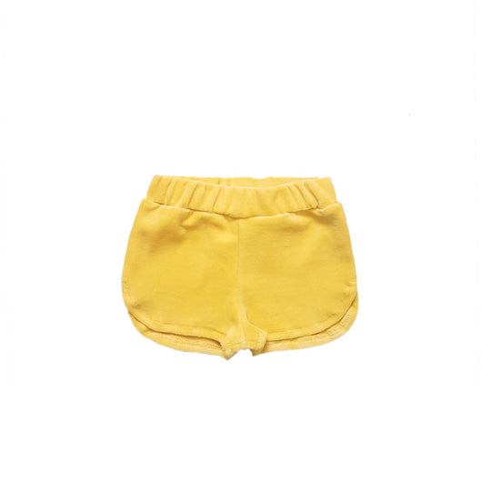 TOUGH COOKIE - VELVET SHORT - YELLOW TOUGH COOKIE - VELVET SHORT - YELLOW, apparel, tough cookie, littlebelleandbeau- littlebelleandbeau