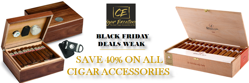 2017 Black Friday Deals:  Enjoy 40% discounts on All cigar accessories