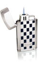 Caseti Gaspar Jet Flame Lighter With Cigar Punch - Blue Grid Lacquer