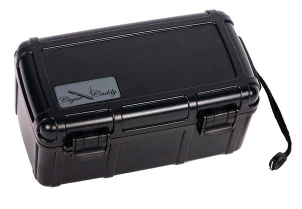 15 Ct. (Black) Plastic Travel Humidor Water & Crush Resistant