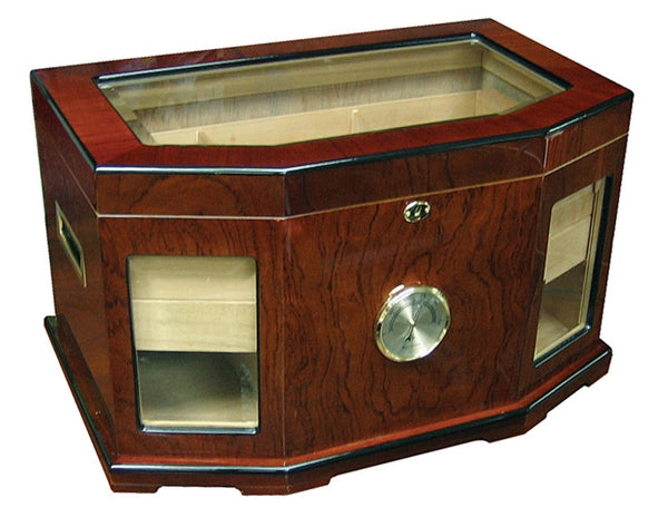 300 Ct. High Gloss Lacquer Humidor w/ Beveled Glass