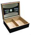 100 Ct. Black Humidor with UV Glass
