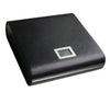 20 Ct. Black Leather Travel Humidor w/ External Digital Hyg
