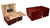 120 Count Cherry Humidor w/ Tray Lock & Handles