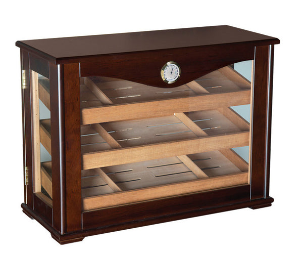 250 Count Cigar Countertop Display Humidor w/ Trays