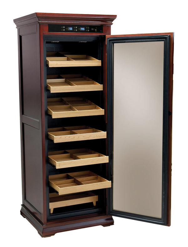 2000 Ct. Electric Climate/Humidity Controlled Cabinet (Dark Cherry)
