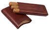Visol Legend Burgundy Genuine Leather Cigar Case