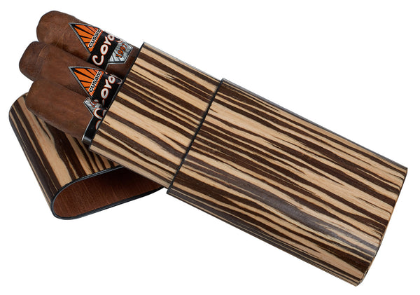 Visol Sawyer Zebrawood Cigar Case