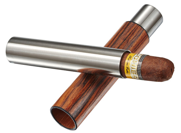 Visol Admon Natural Wood Wrapped Cigar Tube