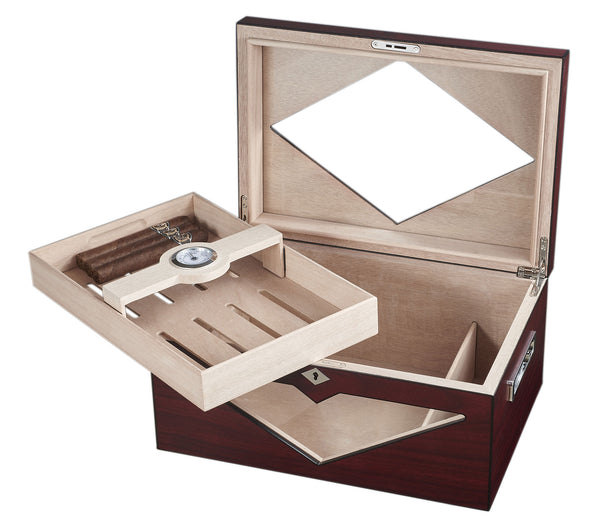 Visol Hudson Red Antique Wood Stain Humidor