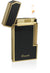 Caseti Windsor Gold Plating With Black Lacquer Flint Traditional Flame Lighter