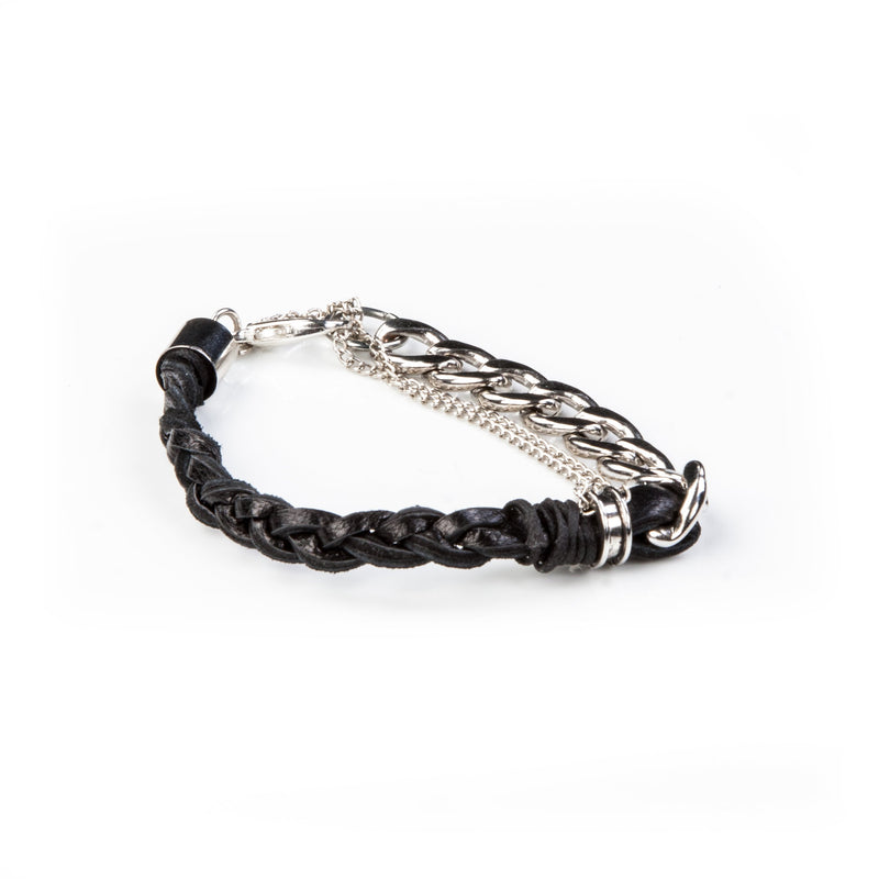 leather bracelet men The Ruby Teardrop