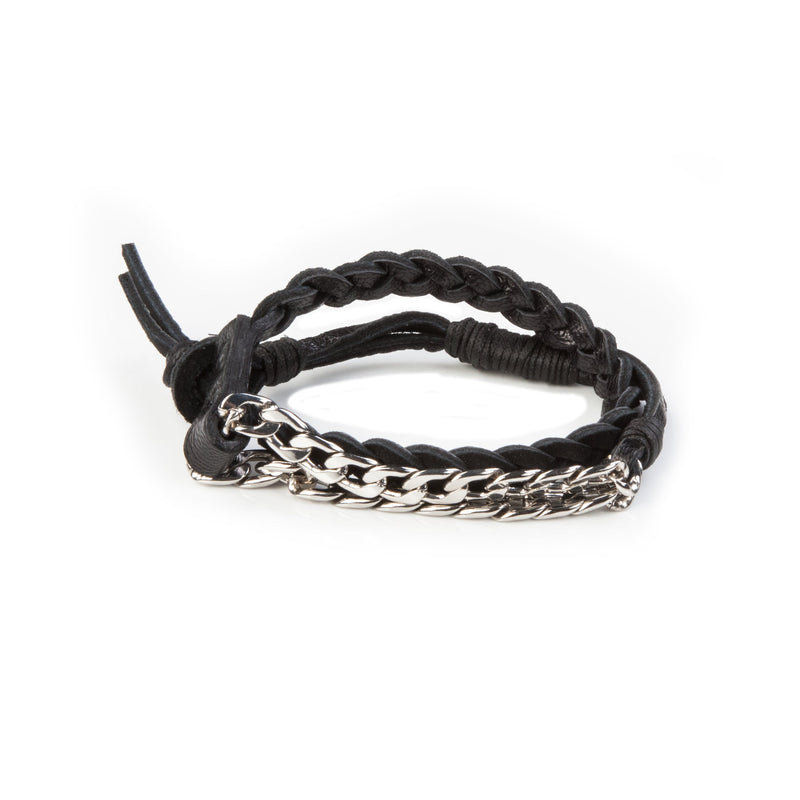 leather bracelet men The Infinite Fan