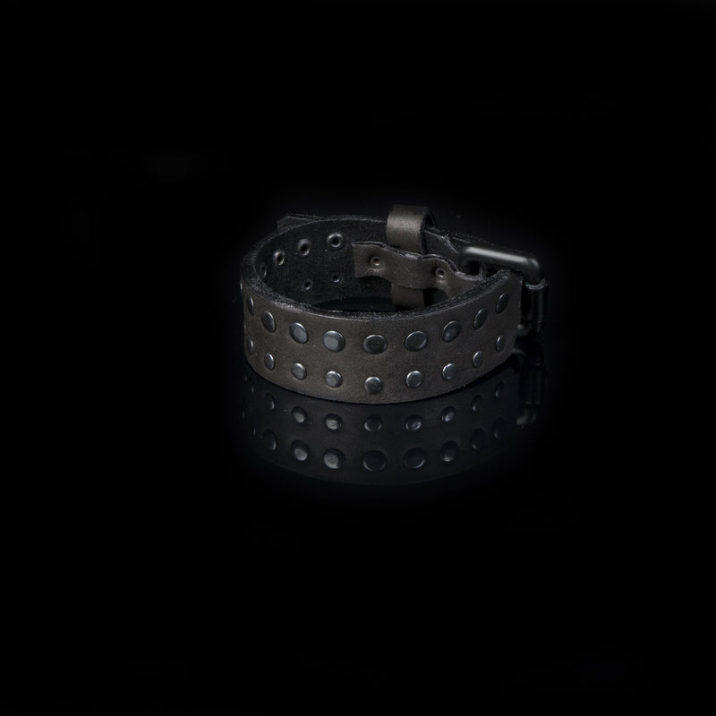 leather bracelet men The Lunar Charm