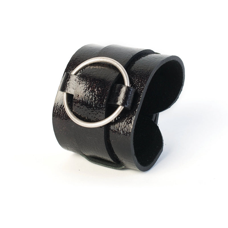 leather bracelet The obsidian eye