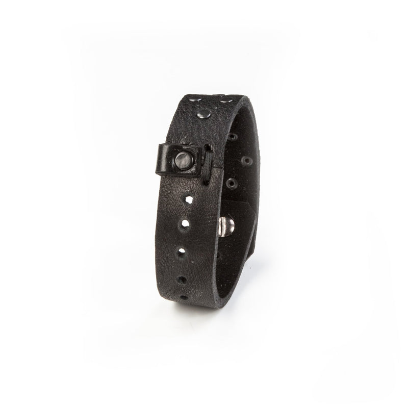 leather bracelet men The Feline Shield
