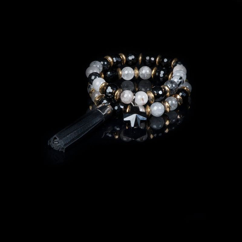 bead bracelet new The Spinel Drop