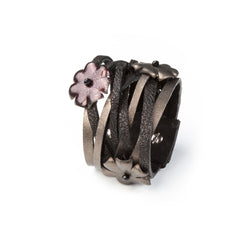 Leather bracelet new The Luminous Drop
