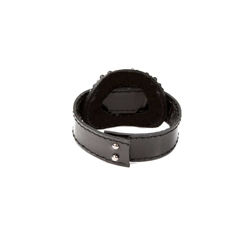 Leather bracelet new The Coral Twist