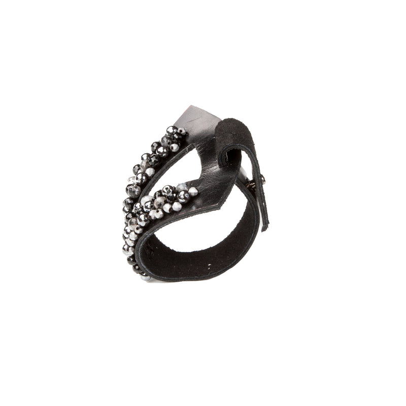 Leather bracelet new The Serpentine Panther