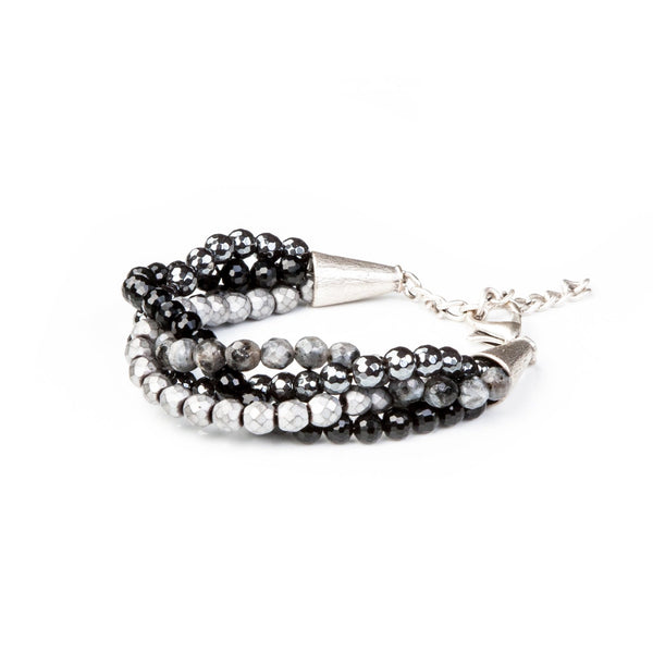 bead bracelet new The Obsidian Bliss