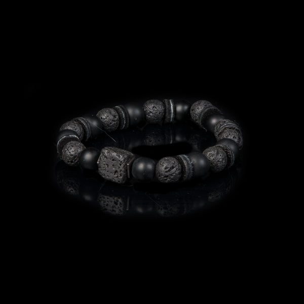 Bead bracelet men The Tinted Crest