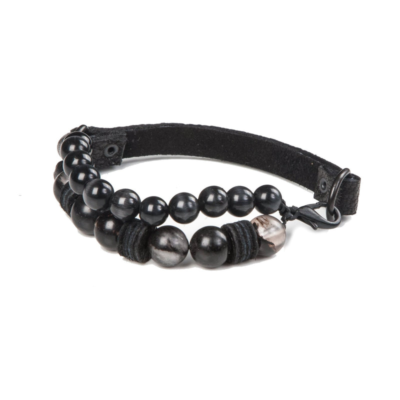 Bead bracelet men The Diamond Resolve