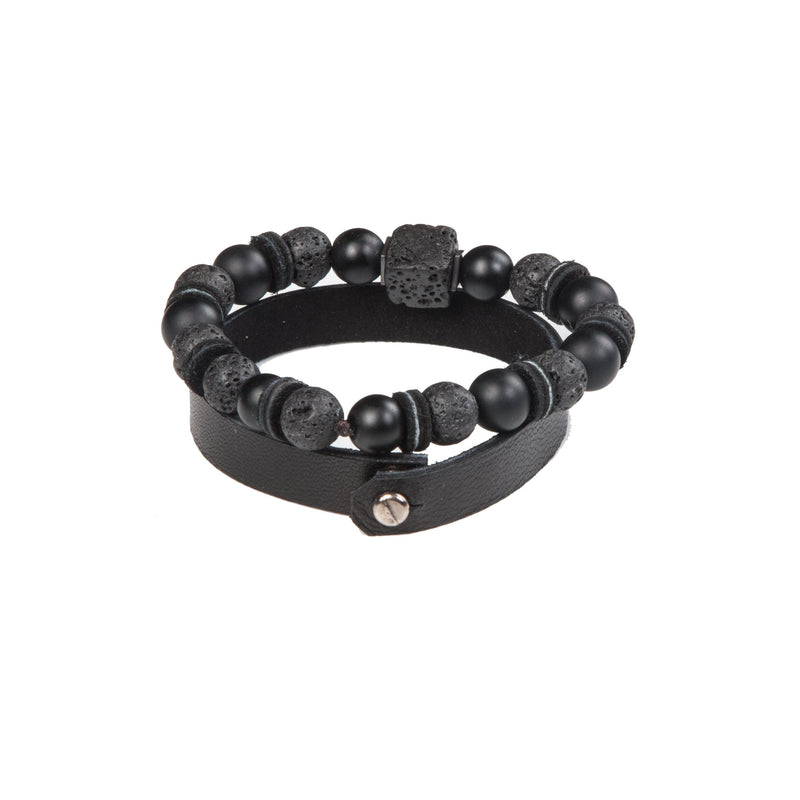 Bead bracelet men The Brave Core
