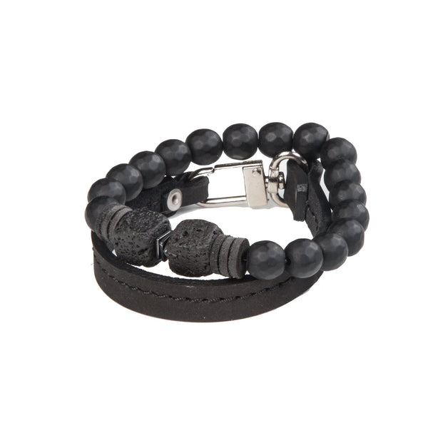 Bead bracelet men The Hematite Riddle