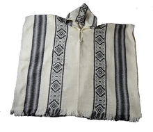 South American hand made wool  Hooded Style Inca poncho