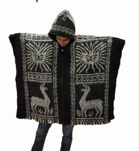 South American hand made wool poncho Inca Sun