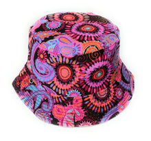 Cool colorful psychedelic paisley bucket hat