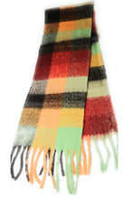 New style trending Super Soft thick brushed scarf Pastel check