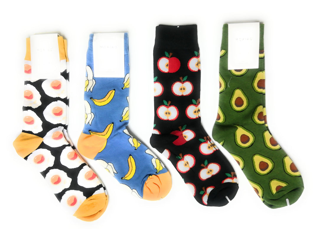 Multi-Pack 4 pair Cute Fruit Design Knitted Cotton  Socks