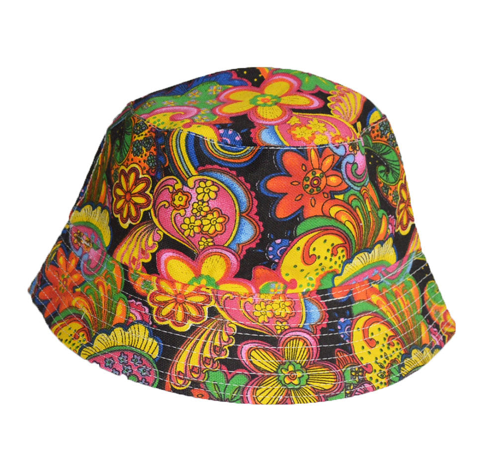 effa16369a6 Cool colorful psychedelic paisley bucket hat – KGM Accessories
