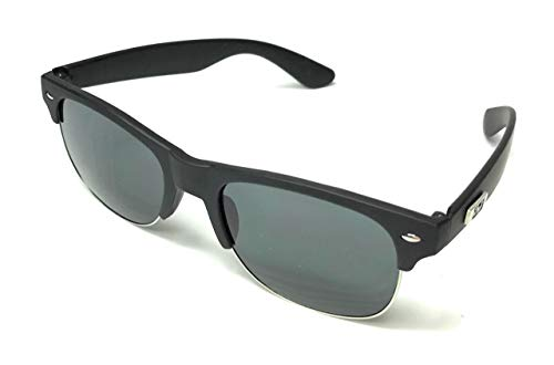 Vintage style Club Man reflective Sunglasses (Black)