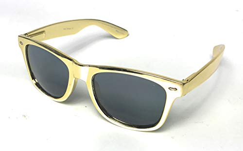 Wayfafer Style classic shape Metallic SILVER Gold Frame Sunglasses