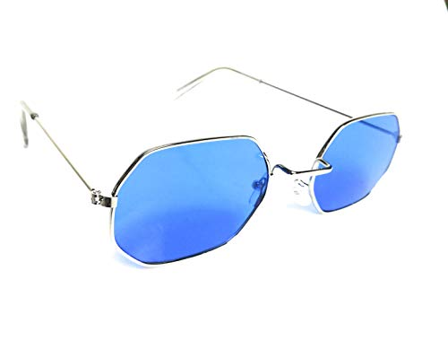 KGM Accessories Hexagonal tinted Lens Designer Sunglasses