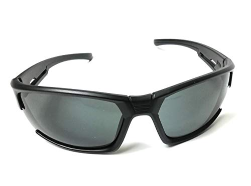 KGM Accessories Classic Black wrap round Visor Sunglasses - Mens womens sport Biker Sunglasses