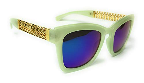 Opaque frame gold arm Wave Maker Designer Sunglasses
