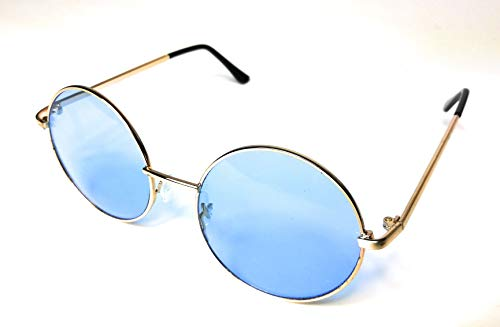 KGM Accessories Color Tinted Round Aviator Sunglasses