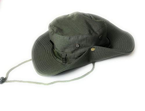 KGM Military style Boonie Bush Combat Brim Army Bucket Safari sun hat - Outdoor festival hats