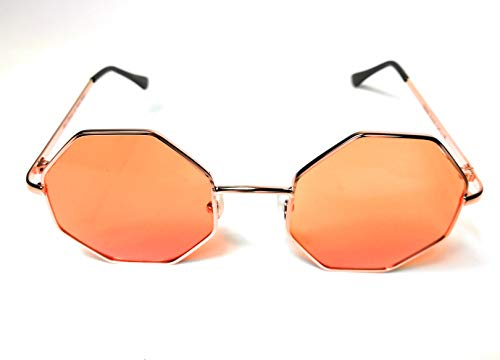 Octagonal Tinted Lens Designer Sunglasses - Woman men fashion glasses