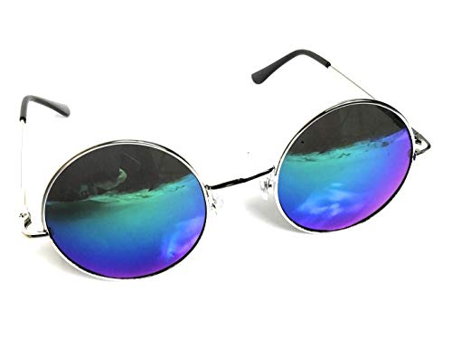 KGM Accessories ROUND Tinted Mirror Reflective Aviator Sunglasses