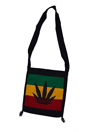 Cool hand made Rasta Cannabis print shoulder Bag