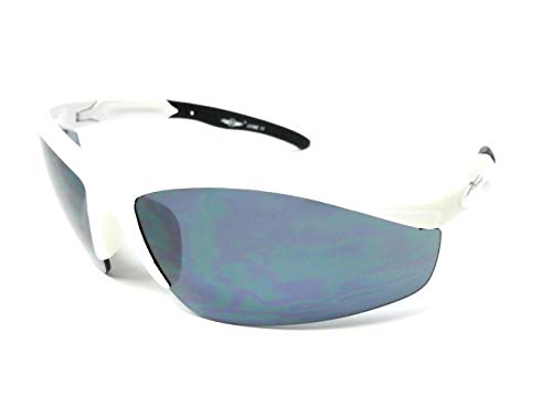 KGM Accessories New White wrap round Half frame Visor Sunglasses - Mens womens sport Sunglasses