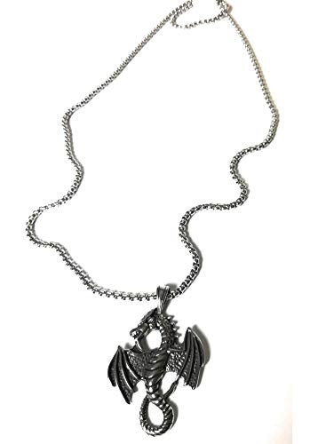 Cool wolf cowl skull Heavy Metal Stainless steel Pendant Necklace