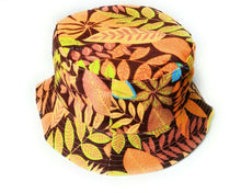 Colorful Rain Forrest Double layer bucket sun hat  festival outdoor holiday hats