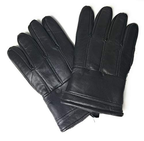 Premium Quality Stylish Design Men`s Real Leather Gloves Black
